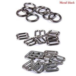 Image 2 - Hebillas de ajuste de correa de sujetador de Metal/Plástico, anillos deslizantes para ropa interior, Clips para ajuste de lencería, accesorios DIY, 20 Uds. 6mm ~ 25mm