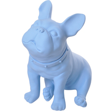 Blue Plastic French Bulldog Dog Mannequin With Revolved Head For Display D70