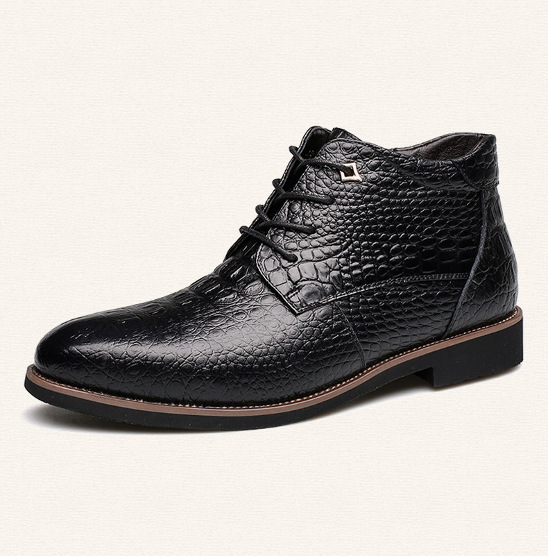 Men 39 s boots winter new men warm snow boots male cotton boots in Snow Boots from Shoes