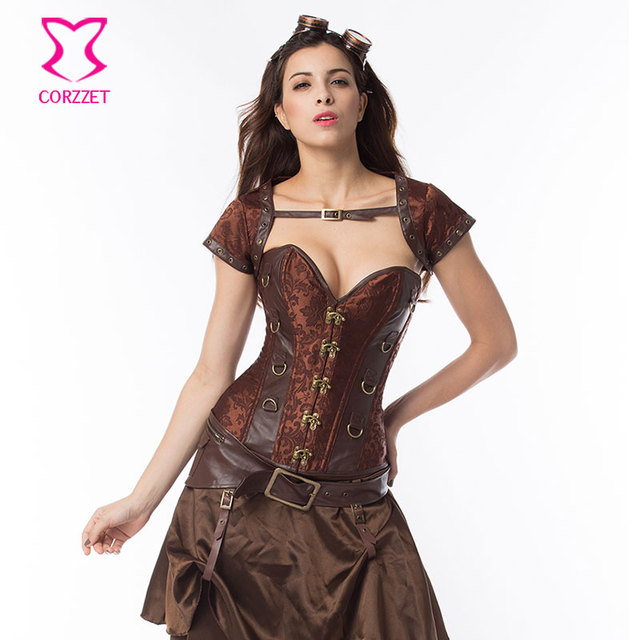 1f70a1b0b1 Plus Size Corset 6XL Bustier Sexy Jacket Belt Outfits Gothic Clothes  Korsett For Women Corsets and Bustiers Steampunk Clothing