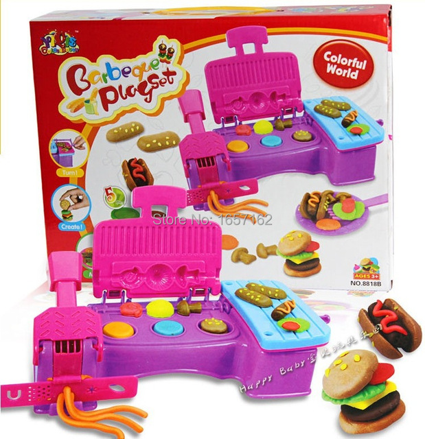 Plasticine kitchen tools set toys making mutilcolor foods for Kitchen set for 1 year old