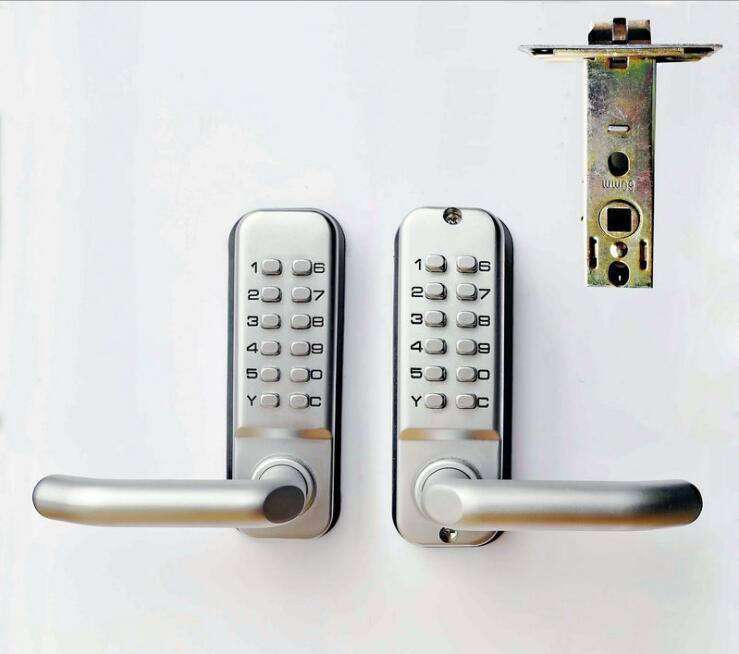 Zinc alloy material Double sided mechanical code lock Garden door lock Wrought iron door code lock