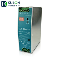Single Phase AC/DC 120W 24V 5A Genuine Meanwell EDR 120 24 Industrial DIN Rail Power Supply