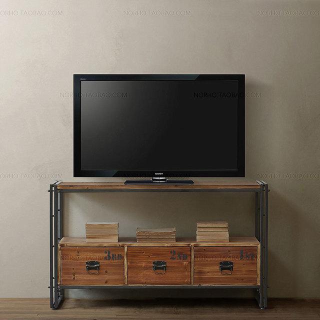 Amerikaanse retro tv meubel tv meubel combinatie van smeedijzeren ...