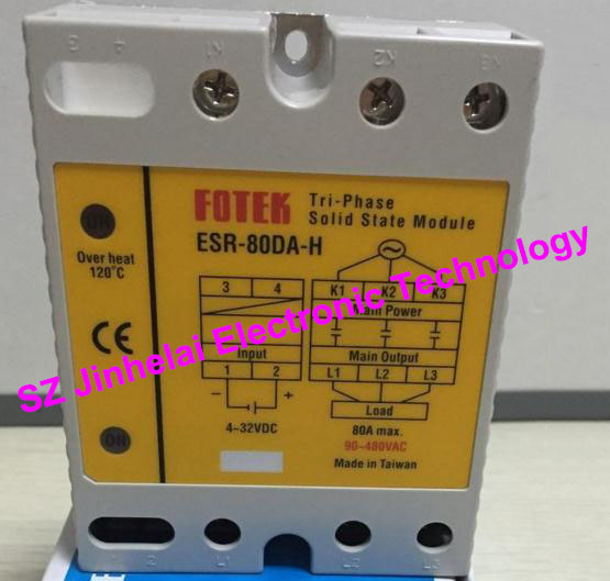 ESR-80DA-H New and original FOTEK 3-Phase Solid state module 80A цена 2017
