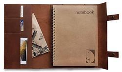 Echtes leder reise notebook sketch 8x11 große nachfüllbare journal flach A4 dot grid spirale notebook 200 seiten