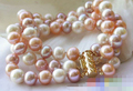 Hot sell Noble- FREE SHIPPING>>>@@ > 12694 3ROW multicolor ROUND FRESHWATER CULTURED PEARL BRACELET