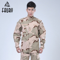 Men Camouflage Suit Army Military Uniform Tactical Cargo Pants Bdu Combat Uniform Army Suit Collar Long Sleeve Jackets Pants Set
