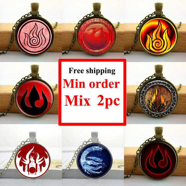 2016 Glass Cabochon Dome Jewelry Avatar The Last Airbender Necklace
