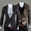 Chaqueta de los hombres comerciales de moda de camuflaje estilo Militar chaqueta de algodón casual slim fit pequeño traje chaqueta para hombre us540