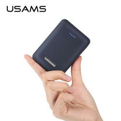 USAMS Ultra-mini Light 10000mah Power Bank Dual USB Portable Powerbank 5V 2A Fast Phone External Battery for iPhone X~5 Samsung