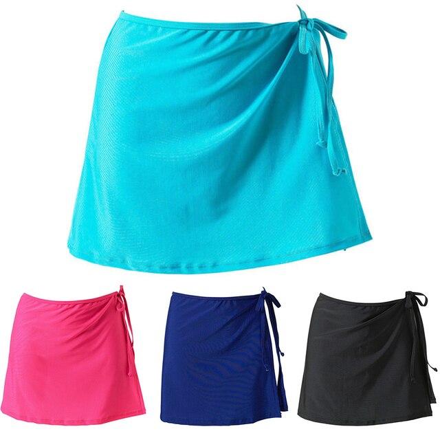 Casual sólido moda playa abrigo Bikini cubrir hacia arriba natación suelta Sarong mujeres falda corto Vacaciones verano