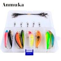 Anmuka 8ピース/箱7センチ8グラム釣りルアーミノーハード餌で2釣りフック釣りに取り組むルアー3d目クランクベイトフローティングミノー