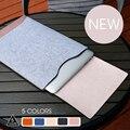 Simples de fieltro interior funda de cuero cubierta de la manga para apple macbook air Pro Retina 11 12 13 15 Caja del ordenador portátil Para Mac 13.3 pulgadas