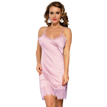Plus Size Silk V Neck Lace Sleepwear Lingerie Women Sleeveless Satin Nightwear Pink Short Sexy Nightgown Dress 5XL RS80772 sexy satin v neck cross front straps playsuits in pink
