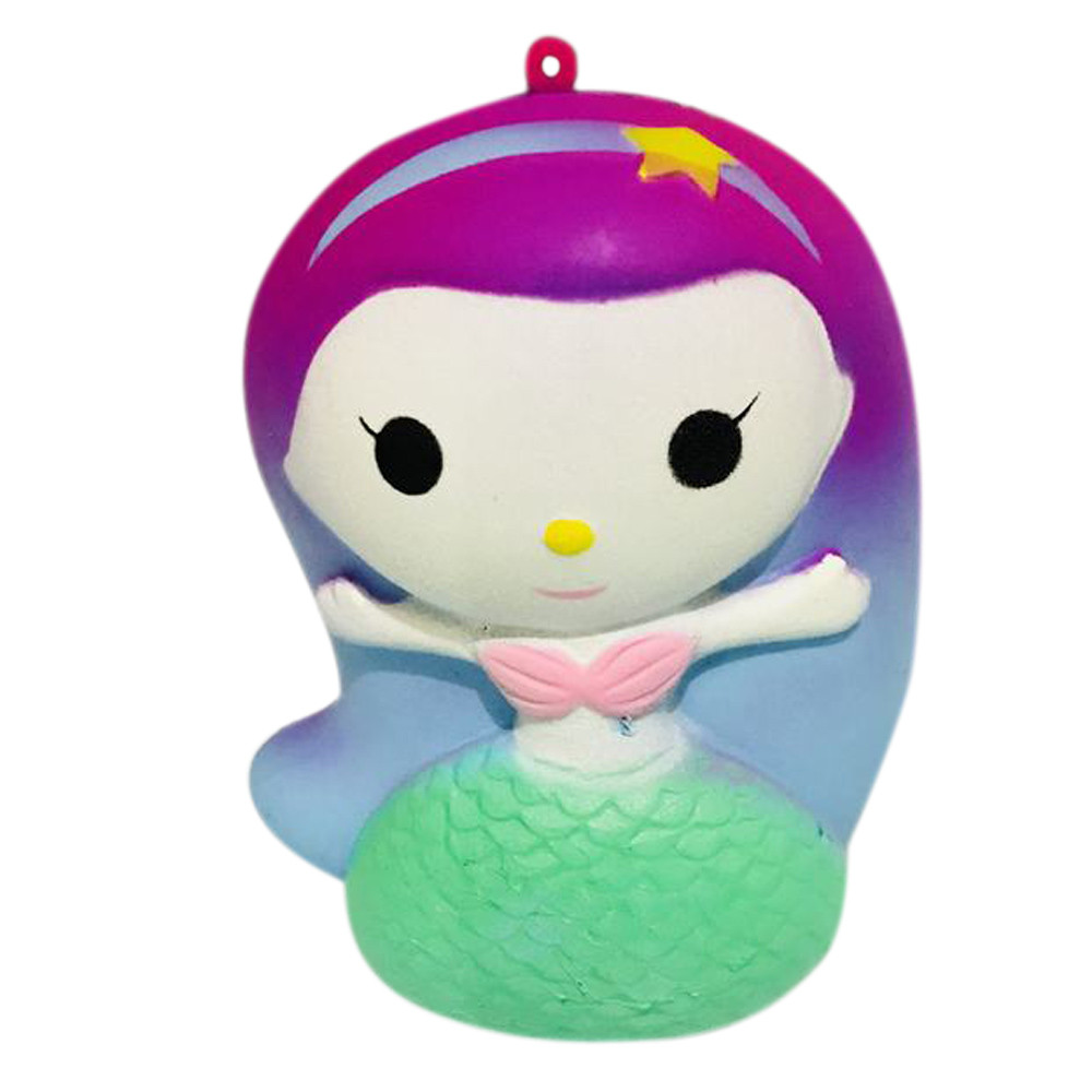 HIINST Finger Mermaid Doll Squishy Slow Rising Cream Scented Decompression Toys june4 P30 drop shipping