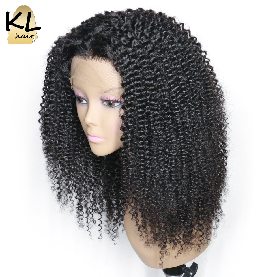 250 Density Lace Front Human Hair Wigs For Black Women Mongolian Remy Hair Kinky Curly Lace