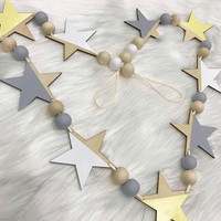Handmade Kids Room Wall Hanging Decoration Nordic Style Star and Ball Gifts For Kids Room Party Decor 18092202