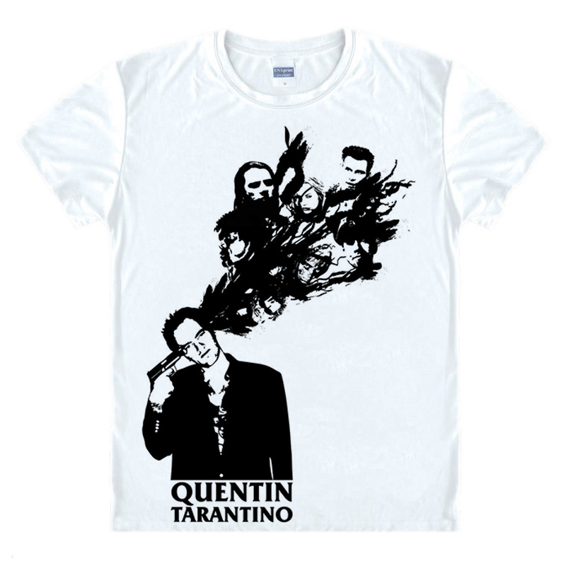 Quentin Tarantino T-shirt Reservoir Dogs Pulp Fiction Print Fashion Free Shipping Original Design Cotton Casual Tshirt T shirt