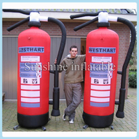 Custom made giant inflatable fire extinguisher with fan inflatable fire extinguisher replica for promotion free shipping