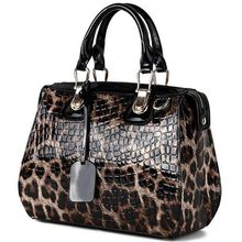 Купить с кэшбэком New Fashion Leopard Pattern Genuine Leather Women Handbags\Bag Cowhide Tote Bag ladies' Shoulder Bags Female Messenger Bag 1122