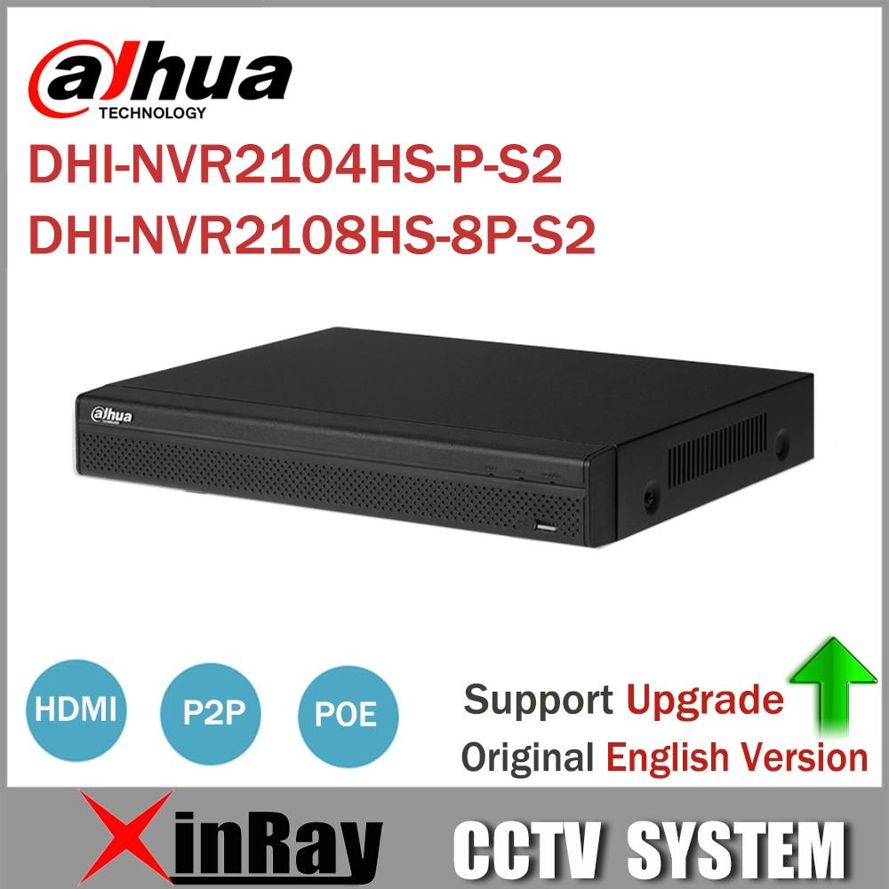 Dahua NVR2104HS-P-S2  NVR2108HS-8P-S2 4/8 Channel POE NVR 1U PoE Network Video Recorder Full HD 6MP Recording For IP Camera солдатов р ред ваз 2109 2108 21099 двигатели 1 5i 1 6i 1 1 1 3 1 5 1 6 эксплуатация обслуживание ремонт