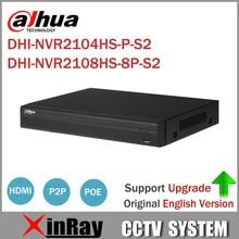 Dahua NVR2104HS-P-S2 NVR2108HS-8P-S2 4/8 Kanal POE NVR 1U PoE Netzwerk Videorekorder Full HD 6MP Aufnahme Für Ip-kamera