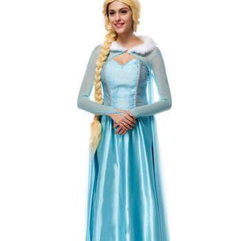 VASHEJIANG Adult Elsa Princess Costume Anime Fantasia Princess Cosplay Clothing Women Kigurumi Anime Halloween costume for women