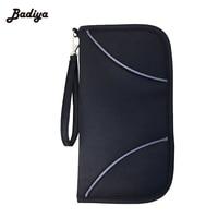 Canvas Passport Wallets Card Holder Multi Function Men Women Travel Wallet Purse Solid RFID Blocking Zipper