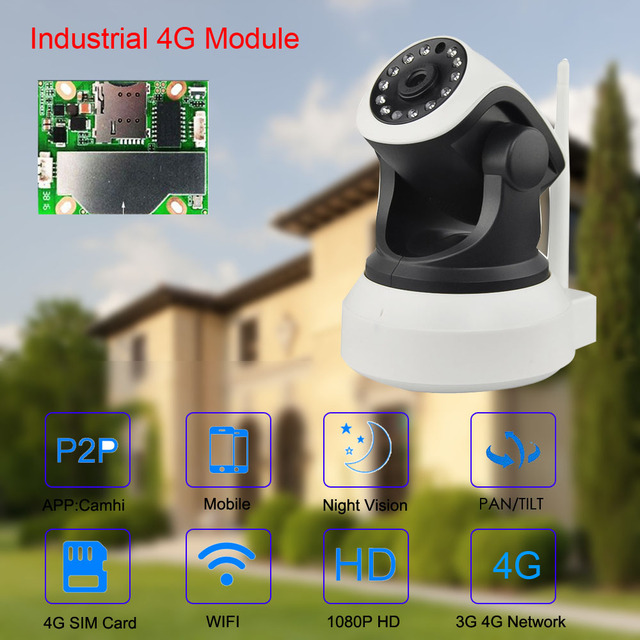 3G 4G Camera Built-in Battery GSM SIM Card Camera Wireless WIFI Home Security 1080P HD Surveillance Video IP Camera 3