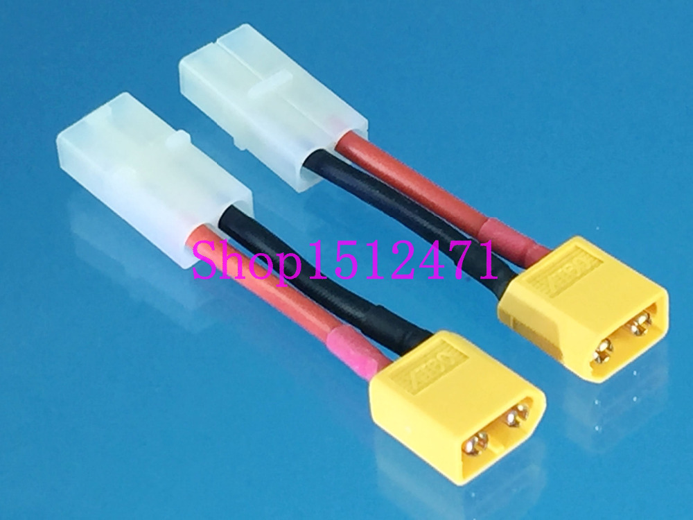 Use HXT Battery with XT90 ESC ARRMA BLACK HXT4mm to Female XT90 Battery Adaptor