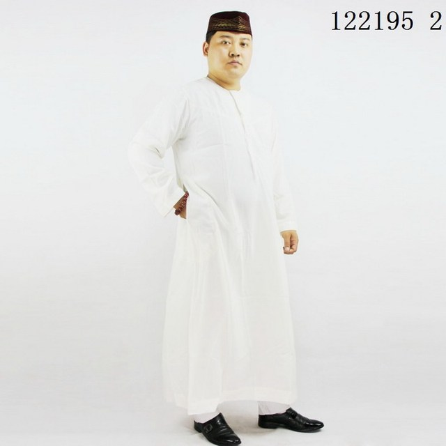Ramadan mens thobe High quality ,men Islamic clothing round , Oman Men's abaya Muslim dress men