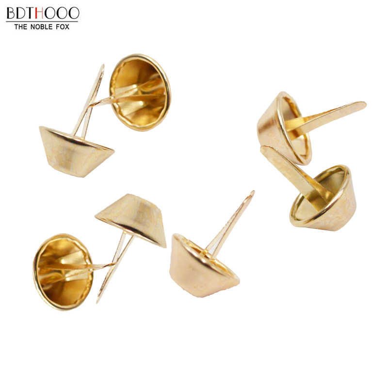 Accessories for bags Rivets 40pcs 9mm Metal Purse Feet Rivets Studs Pierced for Handbag Punk Rock Rivets Bag Leather diy Rivets
