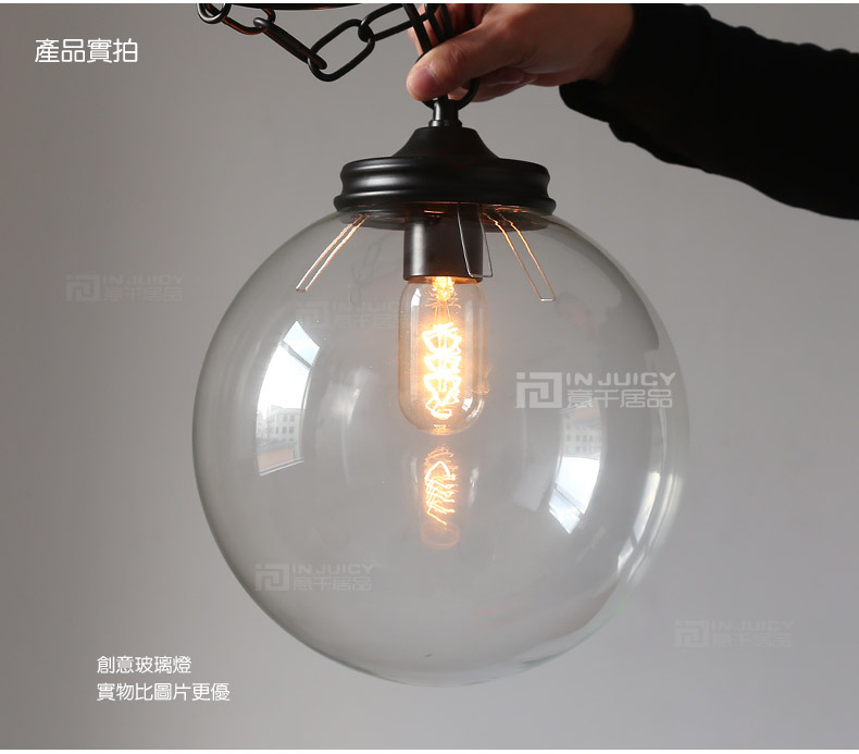 ФОТО 25CM  RH LOFT American Industries Glass Ball Droplight Edison Cafe Bar Coffee Shop Store Club