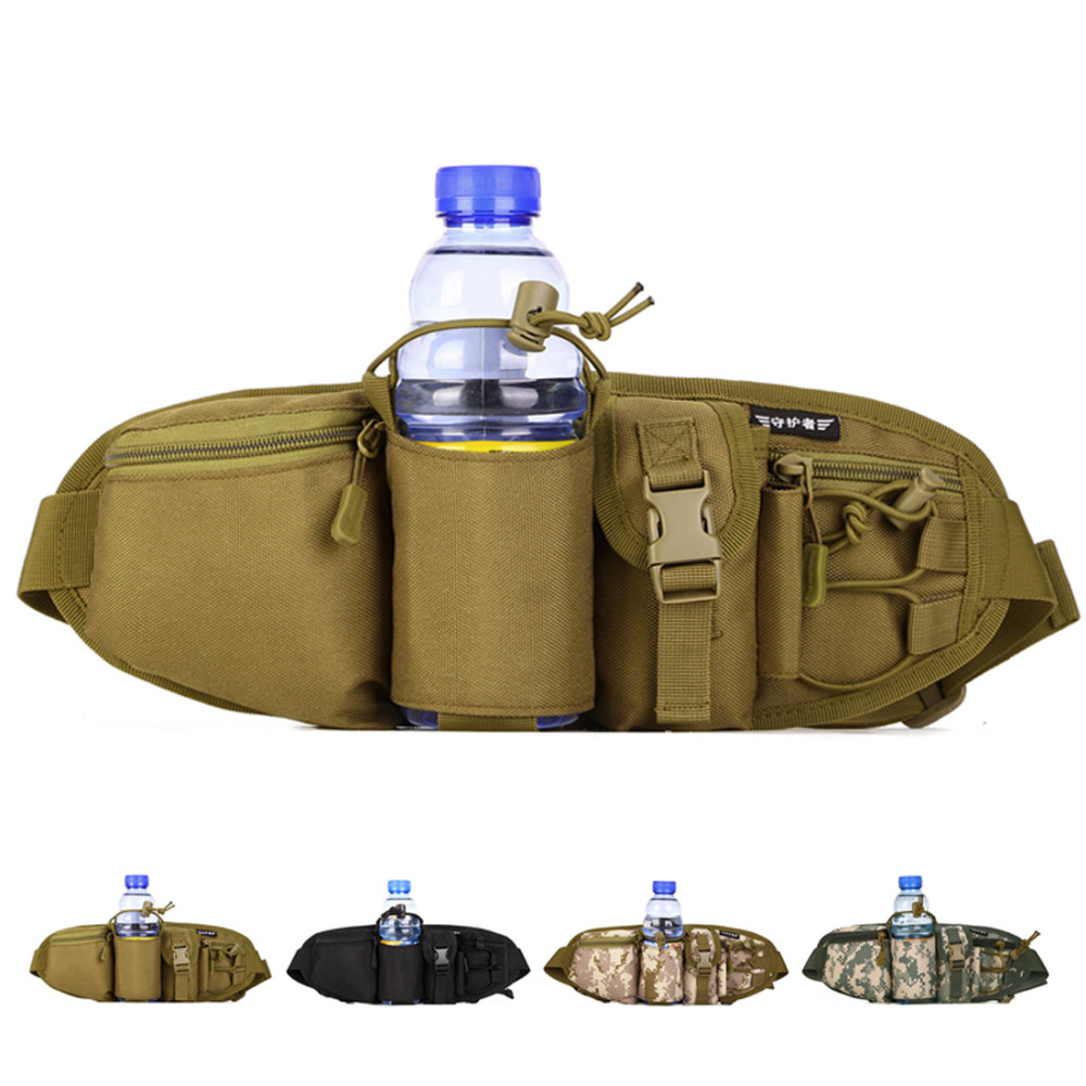 Top Quality Nylon Men Fanny Waist Pack Belt Hip Bum Military Male Sling Chest Bags Durable Water Bottle Kettle Assault Molle Bag