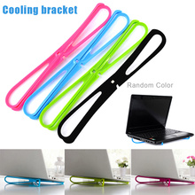 Portable Laptop Cooling Bracket Notebook Adjustable Cross Cooler Pad Stand for Work Travel DJA99