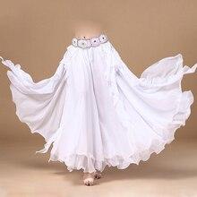 Горячая Распродажа 11 цветов шифоновая одежда для танца живота 3 слоя полный круг Длинные Высокая Талия Длинные женские юбки для танца живота