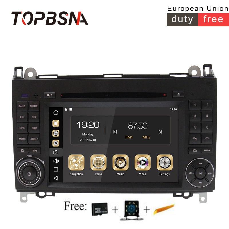 TOPBSNA Android 8,1 автомобильный dvd плеер для Mercedes Benz B Class B200 W169 W245 W639 Viano Vito Sprinter B170 2 Din gps навигационная система, стереомагнитола