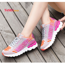 Comfortable Women Casual Shoes Fashion Feminino Light Breathable Mesh Shoes Flying Weaving Women Sneakers Zapatillas Mujer forudesigns light comfortable mesh shoes for women flats breathable mesh shoes woman pretty leaf printed women s sneakers mujer
