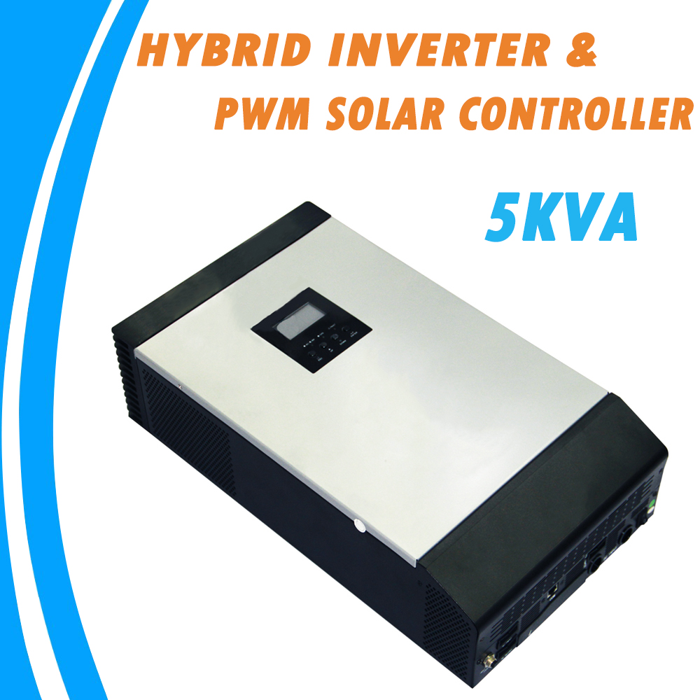 5KVA Pure Sine Wave Hybrid Solar Inverter Built-in PWM Solar Charge Controller for Home Use PS-5K pwm switching techniques for hybrid electrical vehicles