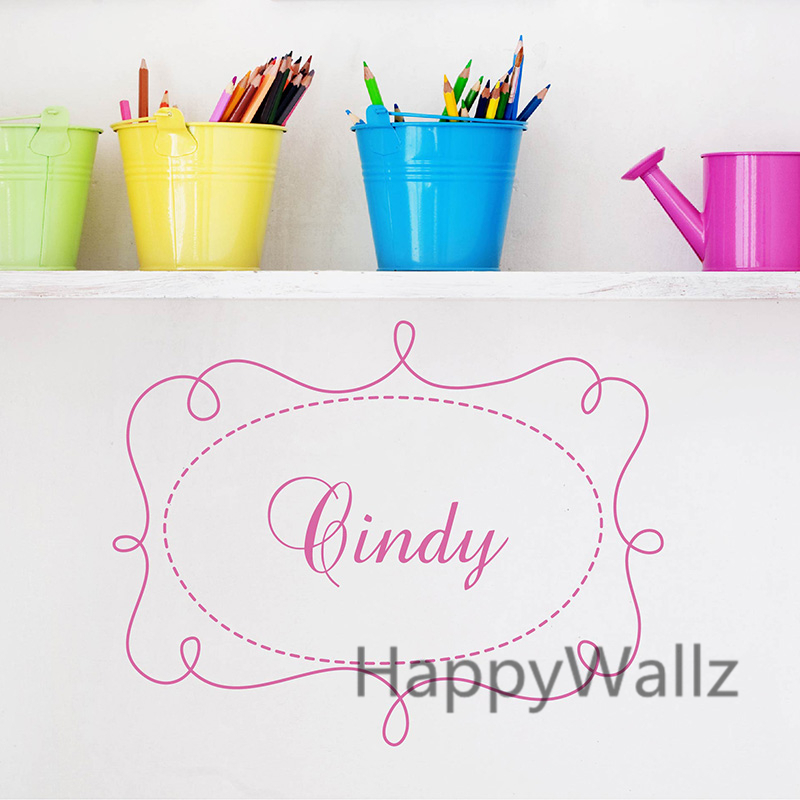 Baby Nursery Custom Name Wall Sticker DIY Baby Nursery Name Wall Decal Kids Room Children Name Wall Decors C28