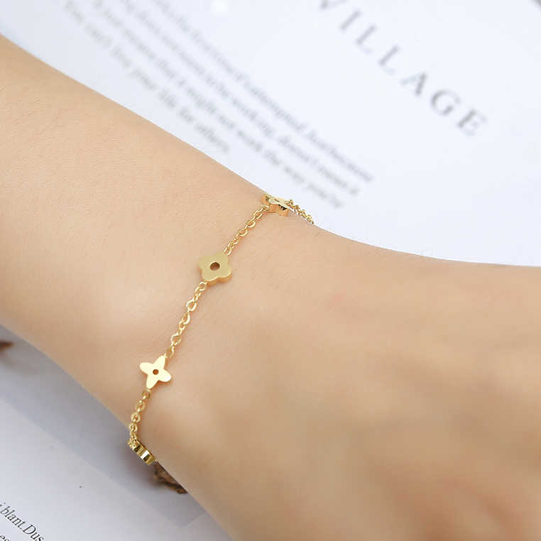 2019 women gifts charms stainless steel bracelets & bangles female chain link bracelet for women friendship braslet