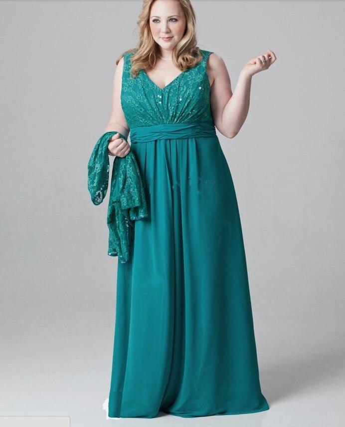 36ea685111 Custom Made Long Vestido Mae Da Noiva V Neck Elegant Green Mother of the  Bride Dresses Plus Size with Jacket Long Sleeves HM25 em Mãe Dos Vestidos  De Noiva ...