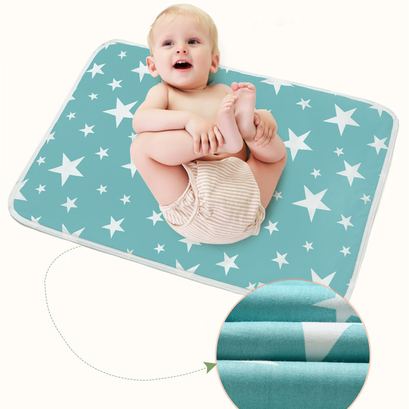 80*110cm Big Baby Changing Mat Adult Pad Waterproof For Boys Girls Newborn Infant Kids Diaper Bed Urine Cover Reusable Portable
