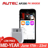 Autel AP200 Bluetooth Car Diagnostic Tool All System OBD2 Automotive Scanner Auto DIY Code Reader Scan Tools PK EasyDiag MK808