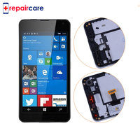 DHL For Microsoft For Nokia Lumia 650 LCD Display Matrix Touch Screen Digitizer Full Assembly With