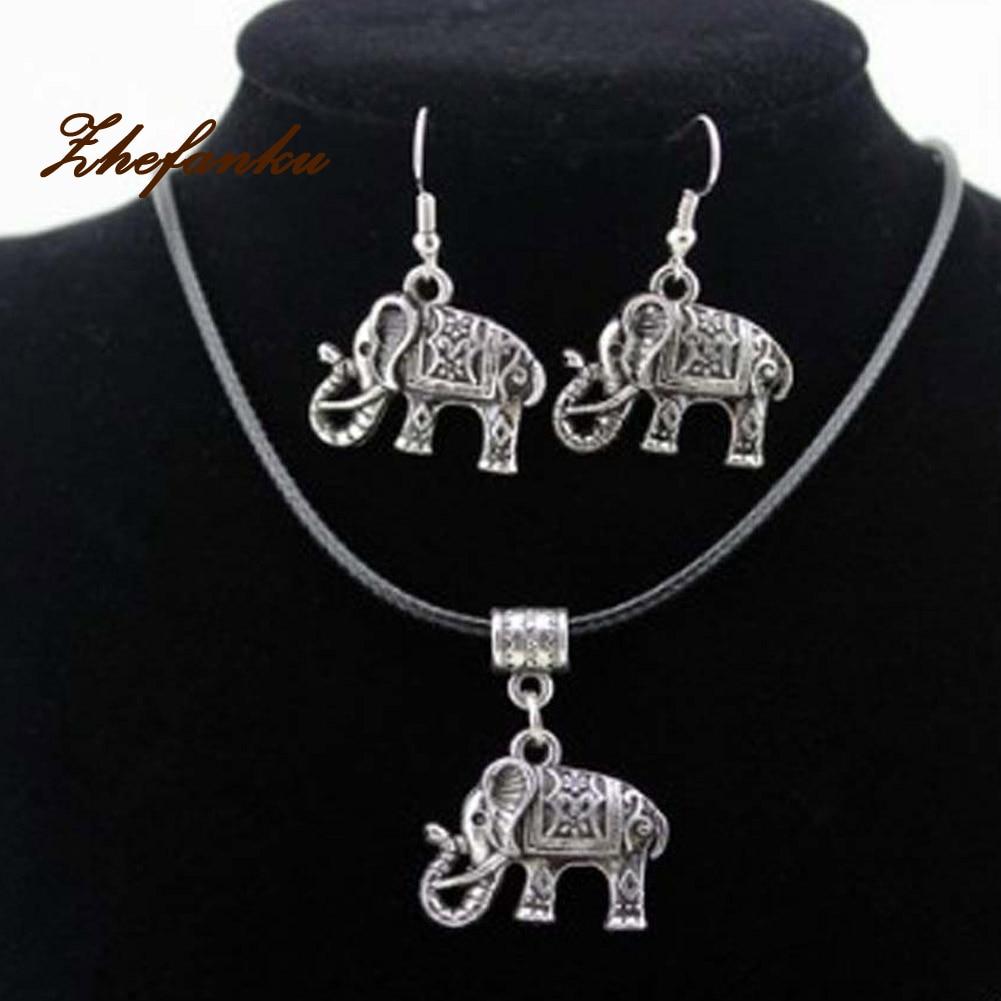 Necklace Earrings Set Latest Popular Special Handmade Beauty Elephant Creative Hot-Sale