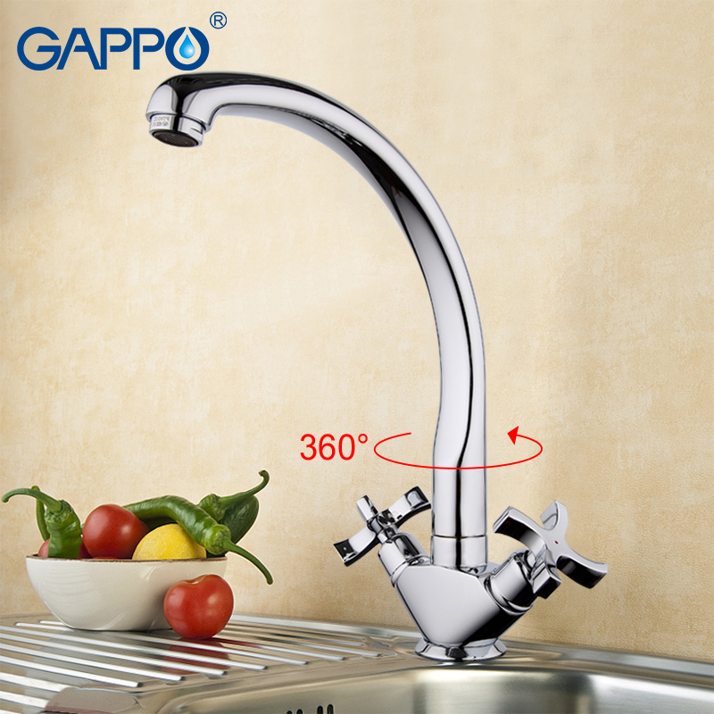 GAPPO Kitchen Sink Faucet Kitchen Mixer Water Mixer Taps Brass Kitchen Faucet Tap Bronze Water Tap Kitchen Bathroom FaucetGA4143