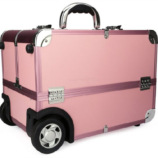 YISHIDUN of professional beauty case travel luggage Bag trolley car type Beauty cosmetics cases toolbox capacity Suitcase Bags