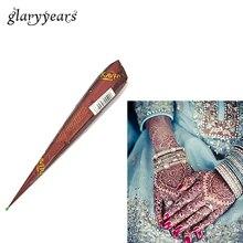 Конуса индийской менди хны хна природных вставить временные коричневый краска рисунок